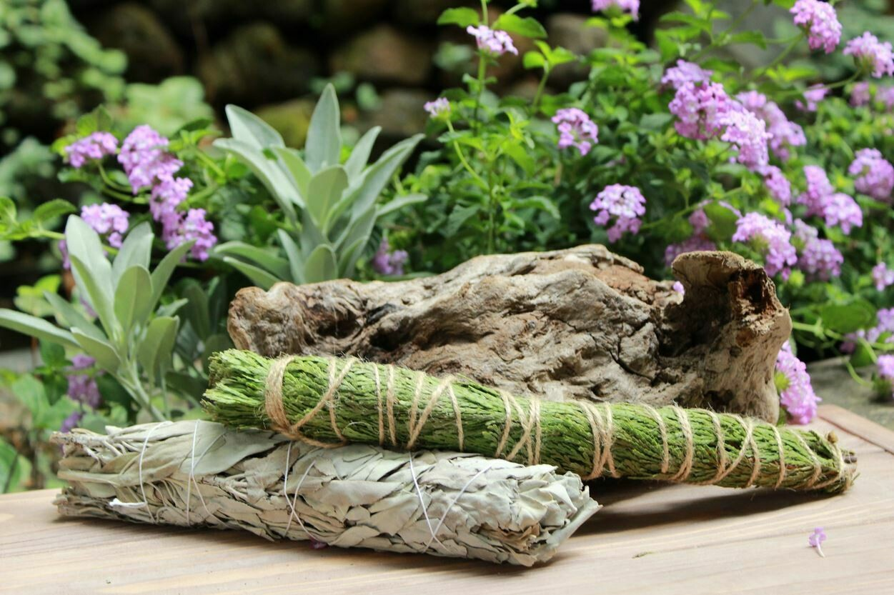 California White Sage AND Cedar Smudge Pack