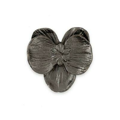 MICHAEL ARAM BLACK NICKELPLATE SMALL ORCHID CABINET KNOB