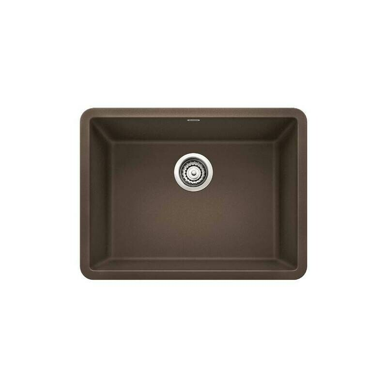 BlancoPrecis 24″ Single Bowl Under-mount Silgranit Kitchen Sink  Cafe Brown
