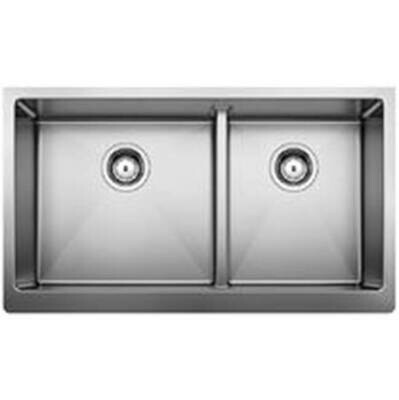 Blanco Quatrus R15 Apron 1-3/4 with Low Divid Stainless Steel Kitchen Sink