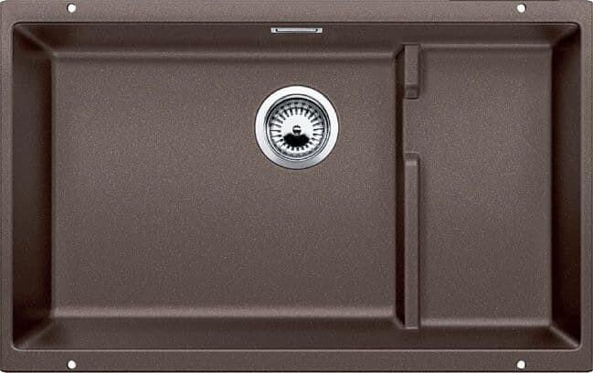 Blanco Precis Cascade Super Single Bowl Kitchen Sink - Cinder