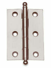 PAIR Morris Hardware Five Knuckle-Loose Pin Mortise Cabinet Hinge 1`.5