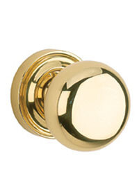 Von Morris Door Hardware Traditional Small Mushroom Knob/Rose PASSAGE-SET INTERIOR MORTISE