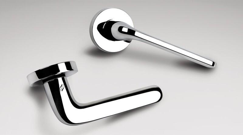 Colombo Design Door Lever ROBOQUATTRO -ID41NA- DOUBLE DUMMY