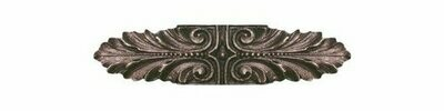 Notting Hill Cabinet Pull Opulent Scroll Antique Solid Bronze 3-3/4