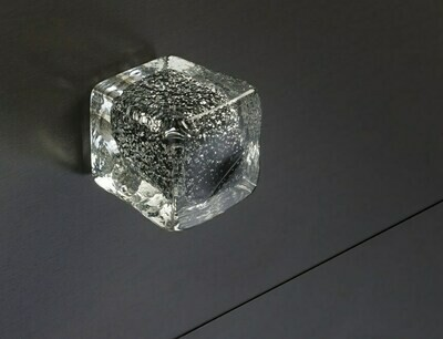 Deco & Deco Decorative Cabinet Knobs Italian Hand-made Murano Glass Cabinet Knobs Black Silver
