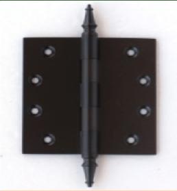 Deco & Deco Decorative Steeple Tip Door Hinges 3-1/2