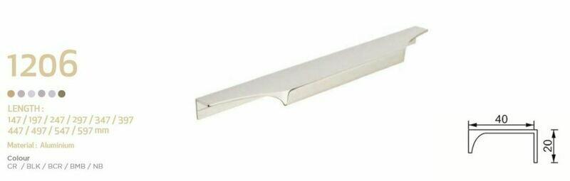 HandStyle Decorative Cabinet Hardware Modern Cabinet Handle 497mm #1206