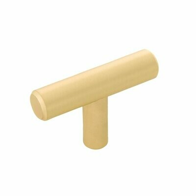 Belwith-Keeler Cabinet Hardware  Contemporary Bar Pulls Collection Knob 2 Inch X 1/2 Inch Royal Brass Finish