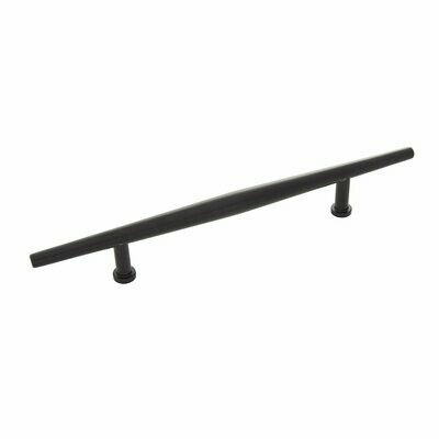 Belwith-Keeler Cabinet Hardware  Wexler Collection Pull 128 Millimeter Center to Center Flat Onyx Finish