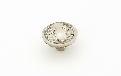 Schaub & Company Symphony  Cantata Collection Cabinet  Knob, Round, White Brass, 1-1/4