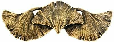 Notting Hill Cabinet Pull Ginkgo Leaf Antique Brass 4-3/8