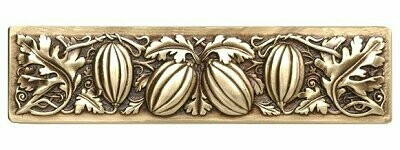 Notting Hill Cabinet Pull Autumn Squash Antique Brass 4-7/8