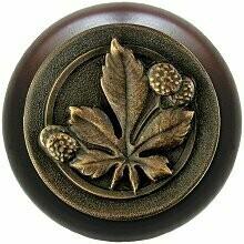 Notting Hill Cabinet Knob Horse Chestnut/Dark Walnut Dark Brass 1-1/2