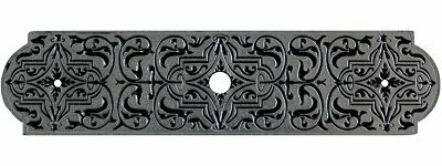 Notting Hill Cabinet Hardware Renaissance Etch Back Plate Brilliant Pewter 3-7/8