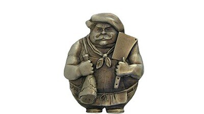Notting Hill Cabinet Hardware Butcher Magnet Antique Brass 1-1/2 w x  1-3/4
