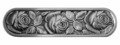 Notting Hill Cabinet Pull McKenna's Rose Antique Pewter   4-3/8