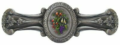 Notting Hill Cabinet Pull Fruit Bouquet Pewter Hand Tinted 4-1/8