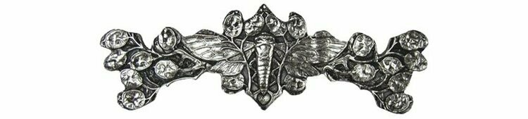 Notting Hill Cabinet Pull Cicada on Leaves Brite Nickel 4