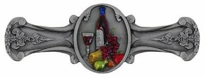 Notting Hill Cabinet Pull Best Cellar (Wine) Pewter Hand Tinted  4