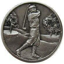 Notting Hill Cabinet Knob Gentleman Golfer Satin Nickel1-1/8