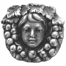 Notting Hill Cabinet Knob Fruit of the Vine Antique Pewter 1-3/8