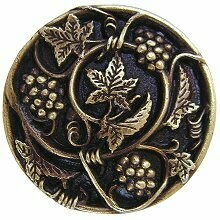 Notting Hill Cabinet Knob Grapevines Antique Brass 1-5/16