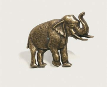 Emenee Decorative Cabinet Hardware Elephant Facing Right 2