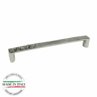 Century Cabinet Hardware Ocean - 192mm Pull in Natural Britannium metal with 2 M4 screws