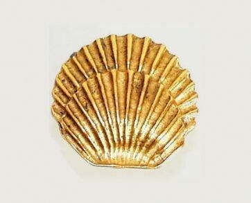 Emenee Decorative Cabinet Hardware Round Seashell 1-3/8