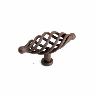 Century Cabinet Hardware Saxon - Wrought Iron, 3-1/2
