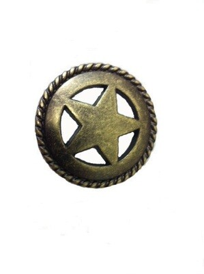 Buck Snort Lodge Decorative Hardware Cabinet Knobs and Pulls Star with Rope