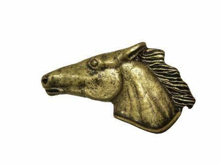 Buck Snort Lodge Hardware Cabinet Pulls Horse Head Left Facing