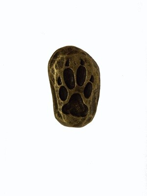 Buck Snort Lodge Cabinet Knob Single Wolf Track - Facing Left