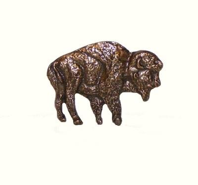 Buck Snort Lodge Decorative Hardware Cabinet Knob Standing Buffalo
