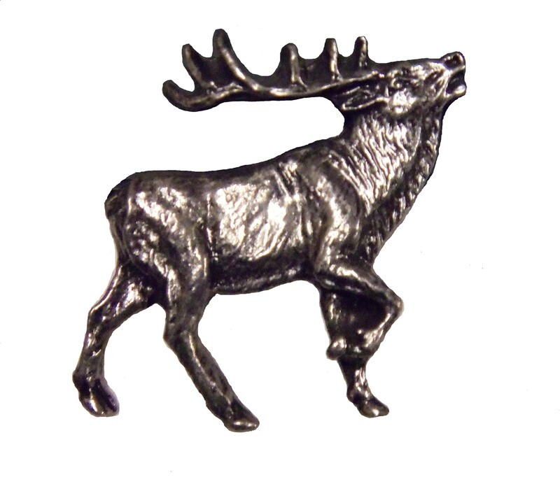 Buck Snort Lodge Decorative Hardware Cabinet Knobs and Pulls Walking Elk - R.F.