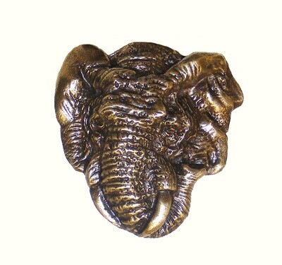 Buck Snort Lodge Hardware Elephant Head Cabinet Knob