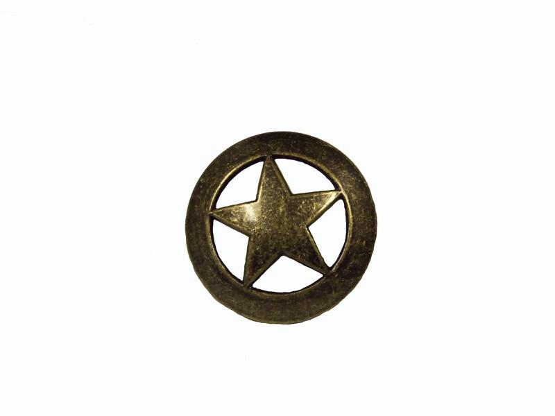 Buck Snort Lodge Decorative Hardware Cabinet Knobs and Pulls Sheriff Star