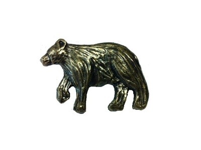 Buck Snort Lodge Decorative Hardware Cabinet Knobs and Pulls Bear Left Facing