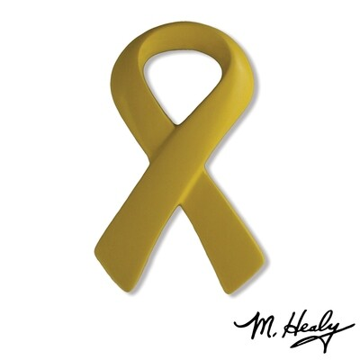 Michael Healy Designs Yellow Ribbon Doorbell  Ringer Yellow
