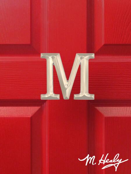 Michael Healy Designs Letter M Door Knocker - Brushed Nickel