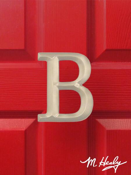 Michael Healy Designs Letter B Door Knocker - Brushed Nickel