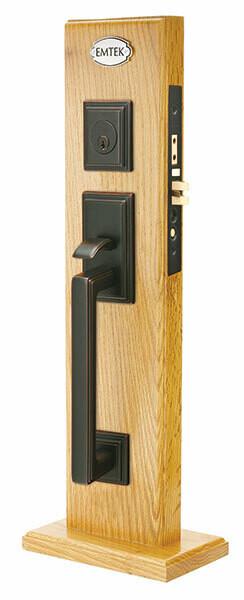 Emtek Door Hardware  Mills Brass Dummy Set