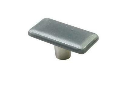 Windborne Studios Cabinet Hardware  Rectangle Knob Grey Silver, 2