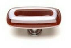 Sietto Glass Rectangular Cabinet Knobs Luster Garnet