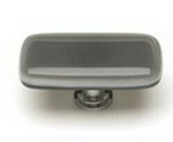 Sietto Glass Rectangular Cabinet Knobs Intrinsic  Silver Grey