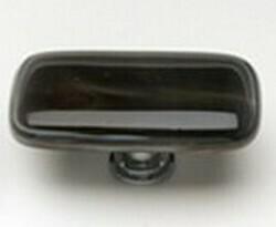 Sietto Glass Rectangular Cabinet Knob Cirrus Brown w/ White Accent