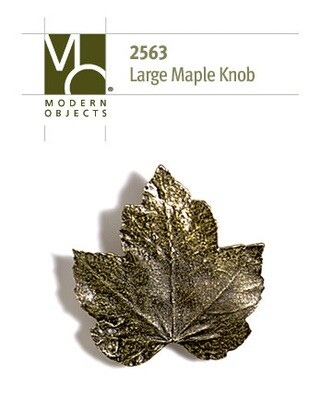 Modern ObjectsDesigner Hardware Large  Maple Leaf Cabinet Knob