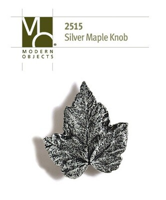 Modern Objects Designer Hardware Silver Maple Cabinet Knob