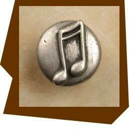 Anne At Home Double Musical Notes Cabinet Knob
